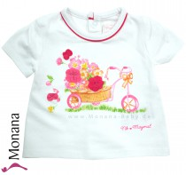 Mayoral t-shirt white Blumenwagen