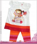Mayoral Kindermode-Set T-Shirt & Leggings Farbenspiel<br>Größe: 80, 86