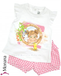 Mayoral child fashion set t-shirt & shorts Entchen