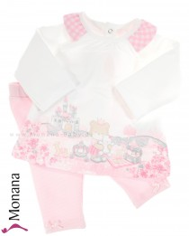 Mayoral Baby-Set Shirt & Strickhose Princess Teddy<br>Größe: 56, 74