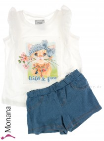 Mayoral child fashion set t-shirt & shorts Wild and Free