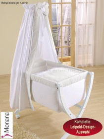 Leipold baby crib Xaver white fully garnished <b>Leipold Designs 2018</b>
