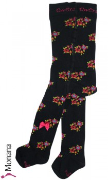 Ewers tights dark blue flowers