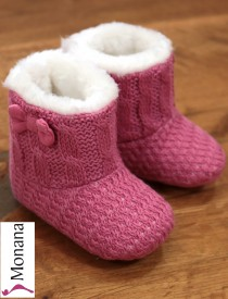 Mayoral Baby-Stiefel himbeer with Schleifchen