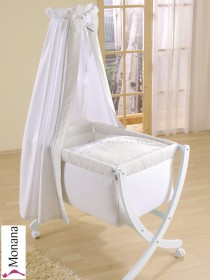 Leipold baby crib Xaver white fully garnished in Leone