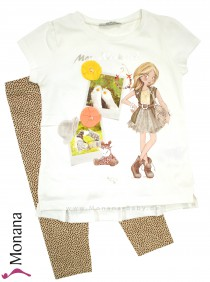 Mayoral Kindermode-Set T-Shirt & Legging Mon Week-end<br>Größe: 104