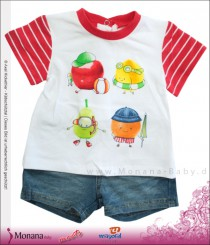 Mayoral Baby-Set T-Shirt & Jeans-Bermudas Sweet Fruits<br>Größe: 68, 74