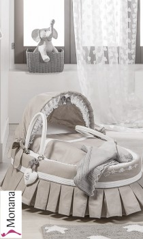 Dilibest by Picci Willow moses basket  Miro greige with Capote <b>Ready for delivery
