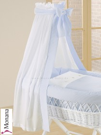 Leipold fabric veil for wicker crib in Kids bleu