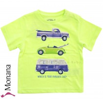 Mayoral t-shirt neon green cars