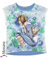 Mayoral T-Shirt Blue Girl<br>Größe: 152, 164