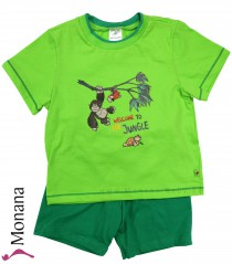 Schiesser short sleeping suit green Nici Welcome to the Jungle