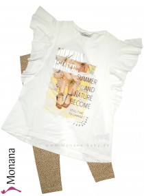 Mayoral Kindermode-Set T-Shirt & Legging Modern Heart<br>Größe: 158, 164