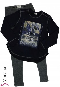 Mayoral child fashion set shirt & leggings Find your wild