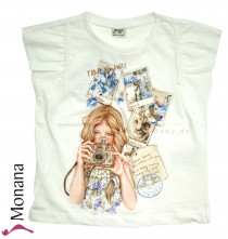 Mayoral T-Shirt Photograph Girl<br>Größe: 128, 134