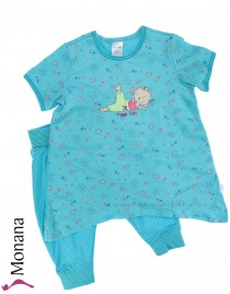 Schiesser short sleeping suit with Haremshose Yoga Cat Zoe