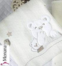 Picci baby blanket for crib Mami cream <b>Ready for delivery