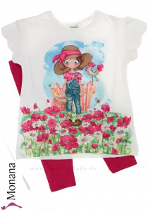 Mayoral Kindermode-Set T-Shirt & Leggings Mohnfeld<br>Größe: 116