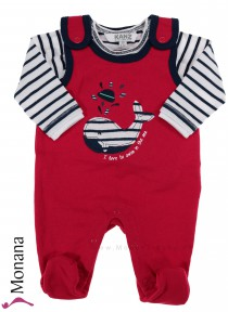 Kanz Baby-Strampler & Shirt Ahoi - I love to swim in the sea<br>Größe: 62, 68