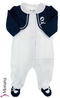 Mayoral baby pyjama white-navy