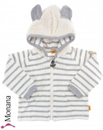 Steiff Collection Babyjacke Little Bears grau<br>Größe: 68, 74, 80, 86