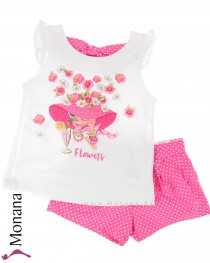 Mayoral Kindermode-Set T-Shirt & Shorts Flowerlady<br>Größe: 98, 116