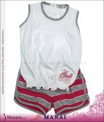 Manai Kindermode-Set T-Shirt & Shorts pink<br>Größe: 86, 92, 98