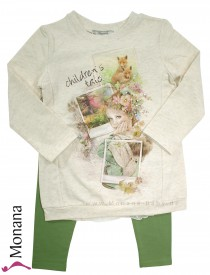 Mayoral Kindermode-Set Shirt & Leggings Childrens Tale<br>Größe: 104, 110