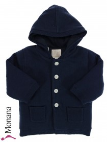 Emile et pink baby jacket dark blue