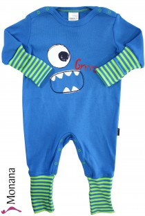 Schiesser sleeping suit variofoot blue Monster