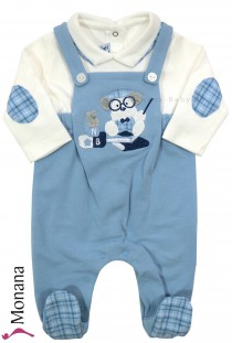 Mayoral Baby-Overall hellblau Mister Dog<br>Gr��e: 50, 56