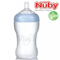 Nuby Natural Touch PP-Weithalsflasche Step 2<br>330 ml<br><b>Bisphenol A frei</b>