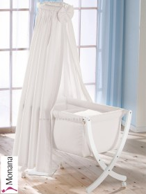 Leipold baby crib Xaver white fully garnished in Lollipop white