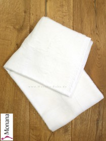 Leipold baby blanket white dimensions: 29,5 x 39,4 inch (ca. 75 x 100 cm) <b>Ready for delivery
