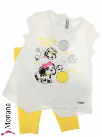 Mayoral child fashion set t-shirt & leggings Hündchen