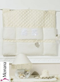 Picci wall hanging panel Jasmine cream with Swarovski elements <b>Ready for delivery