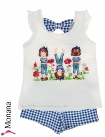 Mayoral Kindermode-Set T-Shirt & Shorts Blumenwiese<br>Größe: 122