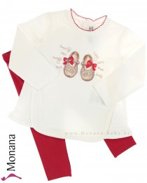 Mayoral child fashion set shirt & leggings Tanzschuhe