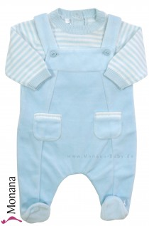 Emile et pink velvet romper light blue & sweater