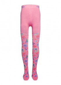 Ewers tights Pippi-Longstocking pink butterfly