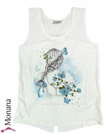 Mayoral T-Shirt ohne Ärmel Flowers and Butterflies<br>Größe: 140, 152, 158, 164
