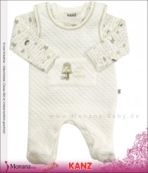Kanz Baby-Strampler ecru & Shirt Little lazy hedgehog<br>Größe: 44, 50, 56, 62