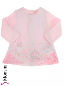 Mayoral baby dress pink with Glitzerkutsche