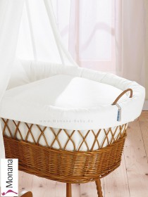 Leipold draping for basket Wendy white <b>Delivery without veil and without bed linen</b> <b>Ready for delivery