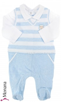 Mayoral baby pyjama Anzug light blue
