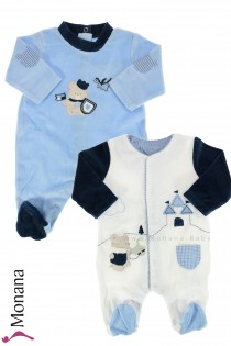 Mayoral Baby-Nicki-Overall-Set Ritter Teddy<br>Größe: 50, 62, 74, 80