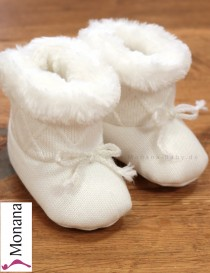 Mayoral Baby-Stiefel cream with Schleifchen