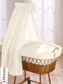 Leipold draping for wicker crib with veil in Wendy beige   pic 0