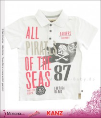 Kanz Polo-Shirt weiß Pirates of the Seas<br>Größe: 128, 152