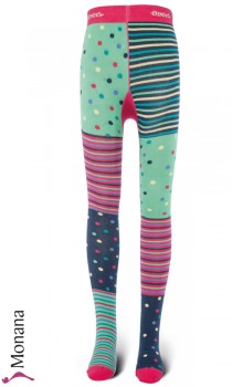 Ewers tights Pippi-Longstocking pink-grün